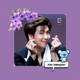 freetoedit bts bangtanboys bangtansonyeondan namjoon rm kimnamjoon rmbts army love sweet cute idol art kpop kpopedit purple butter