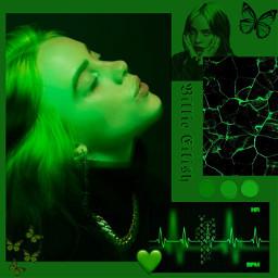 freetoedit black green biliie eilish
