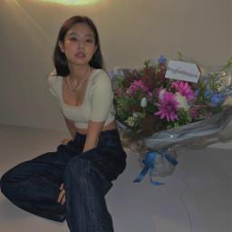 jennie freetoedit blackpink lisablackpink jissoo rosearerosie edits korea flowers cards