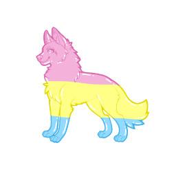 wolf pansexual panwolf wolfie pansexualdrawing draw drawing freetoedit