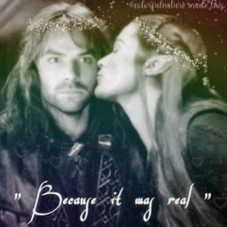thehobbit lotr filiandtauriël elves dwarves love freetoedit