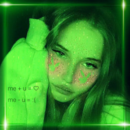 freetoedit girl black green *