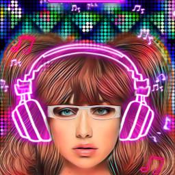 musicincolor freetoedit srcneonheadphones neonheadphones