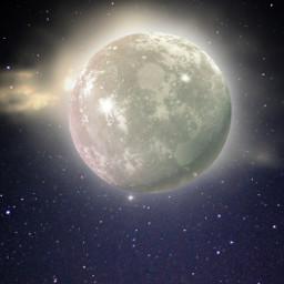 freetoedit background backgrounds moon sky surreal myedit araceliss night light moonlight