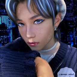 kpop straykids felix straykidsfelix manip manipulation kpopmanipulation bluemanip bluekpopmanip aesthetic glow blue dontsteal