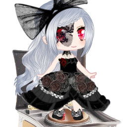 gacha gachaedit gavhadoll anime dress sticker happy sad musicbox toy vampire gavhagirl girl cute preety freetoedit