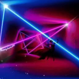 freetoedit picsart heypicsart madewithpicsart makeawesome ownedit neon glitter glow dancer silhouette