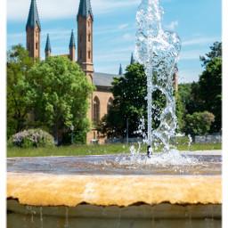 germany travelling travellinggermany neustrelitz meckpomm architecture fontain freetoedit