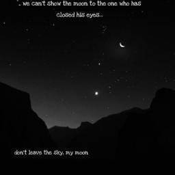 sky dark moon love mymoon picsart edit pinterest freetoedit