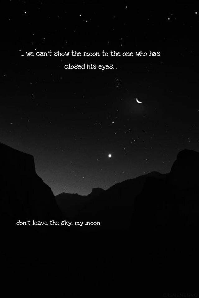 #sky #dark #moon #love #mymoon #picsart #edit #pinterest