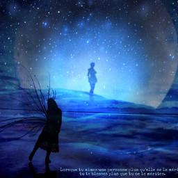 elfe lune moon blue bluemoon lunebleue bleu fee freetoedit