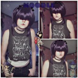 noodle noodlegorillaz gorillaz noodlecosplay gorillazcosplay cosplay dare music purple weeblet101 idk yeet freetoedit