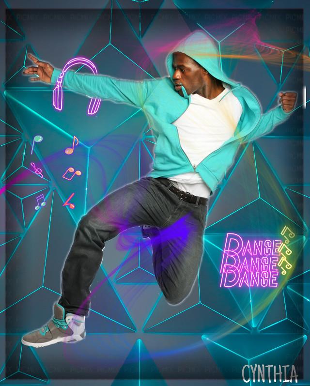#headphones #neoneffect #colorful #dancer. #music #abstractbackground #editbyme #3deffect @PicsArt