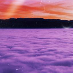 mountain sky clouds nature freetoedit