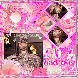 billieeilish billie eilish billieedit pink grey white shape contest wow nah badeditsorry lol purple weird text hashtag