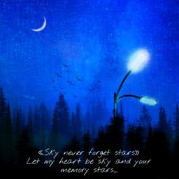 freetoedit sky stars mood night *