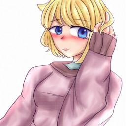 freetoedit art ibispaintx animegirl pls pee piss fart poo pink aesthetic picsart