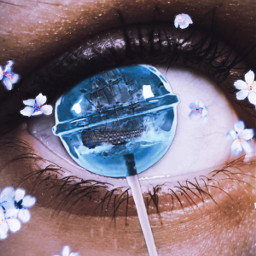 freetoedit candy eye ship flower edit ;)💫🌊⛴️🍭👁️