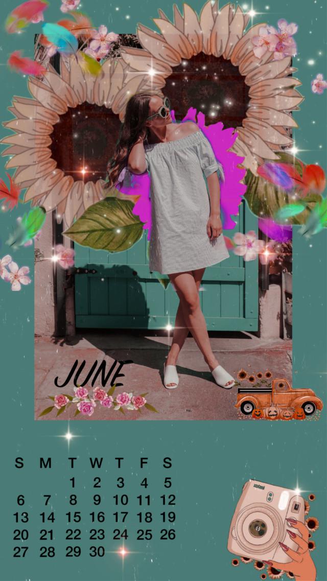 #replay #aestheticreplay #girl #june #calendar #enjoy #sunflowers #image #trendy