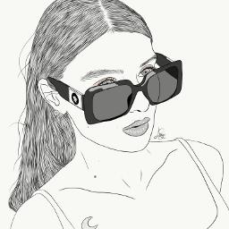 drawing outline sketch digitalart art outlineart digitaldrawing drawingart love creativity creative portrait girl alice pagani freetoedit