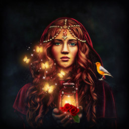 themagiclampimageremixchallenge mystique lantern light butterflies glowing roses bird vignetteeffect ircthemagiclamp freetoedit