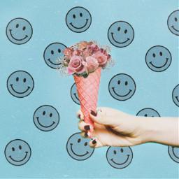 icecream flowers boquet hold cone ecsummericecream summericecream freetoedit