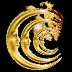 sfghandmade moon moons sticker stickers celestial nightsky faceinthemoon golden gold goldmoon goldsticker freetoedit