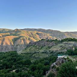 freetoedit mountain landscape garni armenia sky forest