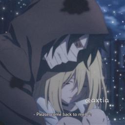 freetoedit anime angelsofdeath rachelgardner zack issacfoster ship friendship subtitle cute like