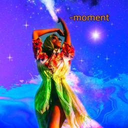 freetoedit picsart replay galaxy planet stars girl wallpaper aesthetic colorful remix