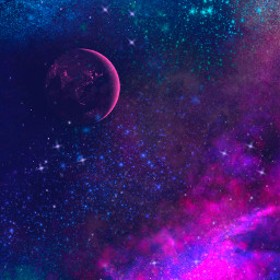 freetoedit picsart wallpaper background galaxy space planet mydrawing drawing colorful stars aesthetic remix