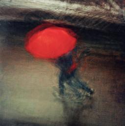 heypicsart red umbrella rainyday street iphone mobile abstract texture blur walking weather