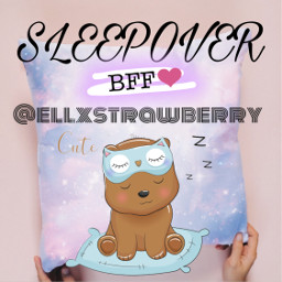 sleepover fun bff sleep hehe smile freetoedit