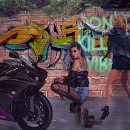 mirpar02 instagram instagramchallenge graffiti women motorcycle freetoedit