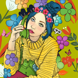hello butterfly cute girl colorful ouline outlineart outlinegirl saccy mywork flowers background fotor freetoedit