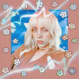 billieeilishedits billie eilish billieeilish aesthetic flowers kawaii blonde happierthanever whenweallfallasleepwheredowego freetoedit