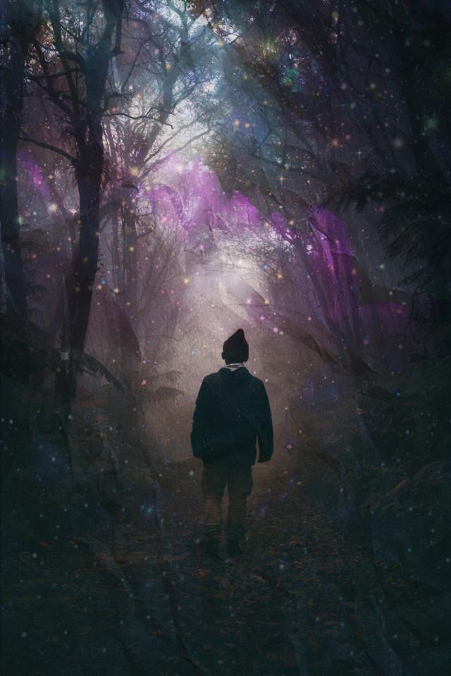#boy #obscury #floresta