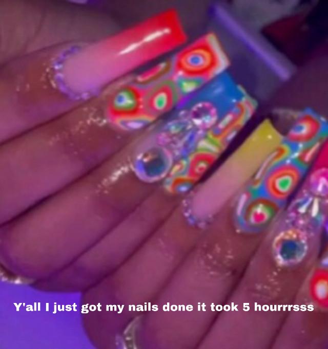 #nails ima go home and sleep for like 3 houRs