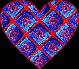 sfghandmade sticker stickers heart heartsticker red blue design picsarteffects freetoedit