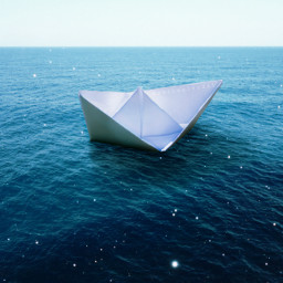 myedit paperboat summer madewithpicsart sea magic stars blue
