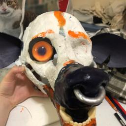 eye resin orange fursuit