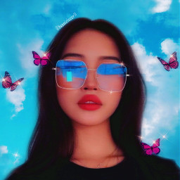 cute nice awesome creativity create bunnielover14 mypost remixit freetoedit tags taglist girl glasses butterflys