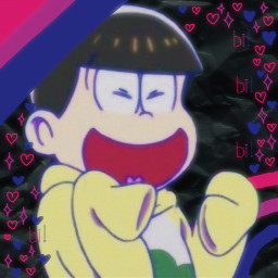 jyushimatsu jyushimatsumatsuno osomatsusan ososan ososanedit headcanon prideheadcanon biflag bi bisexual freetoedit