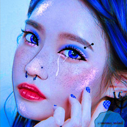 kpop ulzzang manip manipulation kpopmanipulation bluemanip bluekpopmanip aesthetic glow blue dontsteal