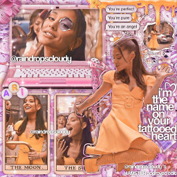 arianagrandebutera arianagrande nomorelockdownsanymore yellow pink newstyle tattooedheart butterflies flowers proud yuh hashtag queen icon iconic branch hamster