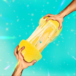 lemon fruit fruits hand blue yellow magic art artwork colorful artist beautiful edit photo photography freetoedit ecfunfruits funfruits