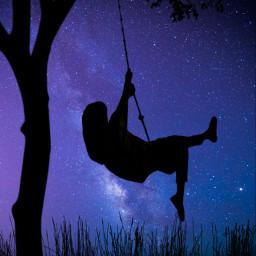 picsart swinggirl galaxy freetoedit