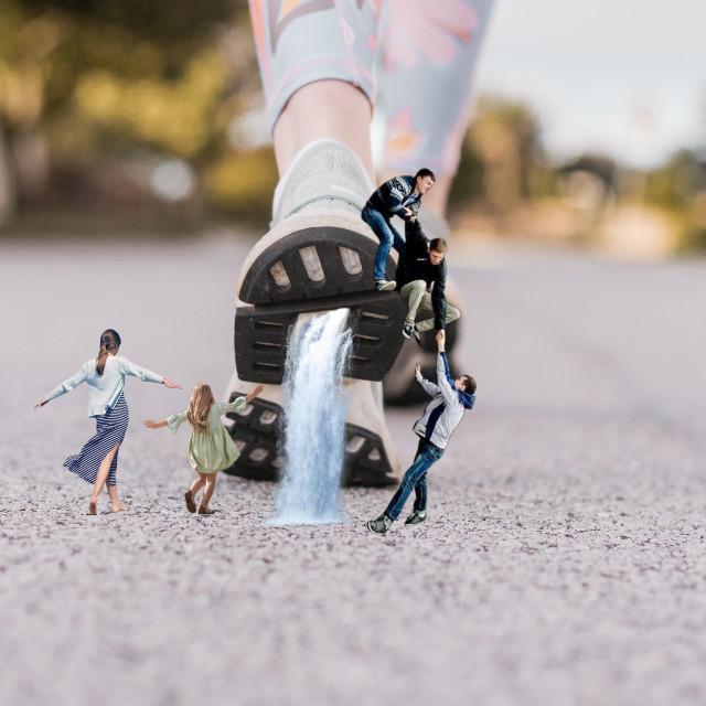 How to make a miniature effect.  #miniature #miniautureeffect #woman #girl #men #waterfall #shoe #replay #surreal #surrealism #fantasy #imagination #orient_arts #madewithpicsart #heypicsart #myedit #makeawesome #papicks #picsart @picsart