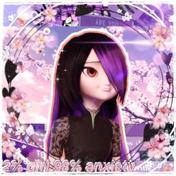 request miraculous juleka couffaine purple girl flowers sparkles pink pretty beautiful shy quiet tiger tigresspourpre heroine wonderful freetoedit