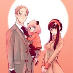 spyxfamily yorxloid anyaforger blushpink orangeaesthetic colourpop manga colouredmanga anime cute kawaii spotlight surprisedface adorable familygoals